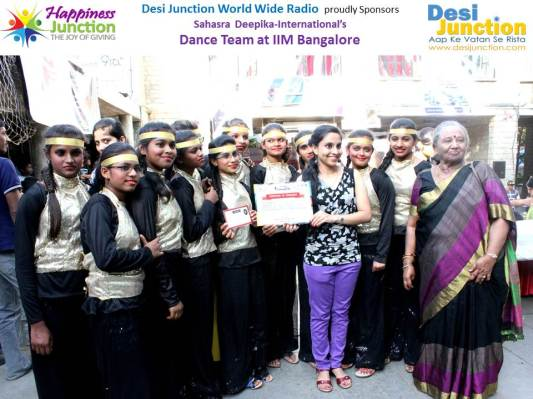 iHope Sponsored the Homeless girls for Dance Performance by Girls at IIM Banglore